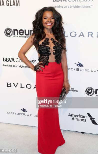Actor Keesha Sharp attends the 25th Annual Elton John AIDS Foundation's Academy Awards Viewing Party at The City of West Hollywood Park on February...