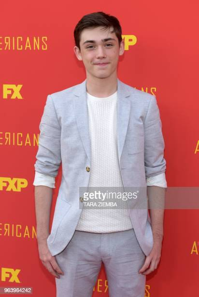 Actor Keidrich Sellati arrives at the For Your Consideration Red Carpet Event for the series finale oF FX's 'The Americans' at the Saban Media Center...