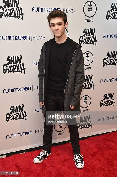 Actor Keidrich Sellati attends the 'Shin Godzilla' premiere presented by Funimation Films at AMC Empire 25n2016 New York Comic Con on October 5 2016...