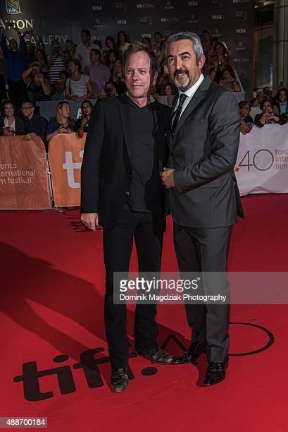 Actor Keifer Sutherland and director Jon Cassar attend the 'Forsaken' premiere during the 2015 Toronto International Film Festival at Roy Thomson...