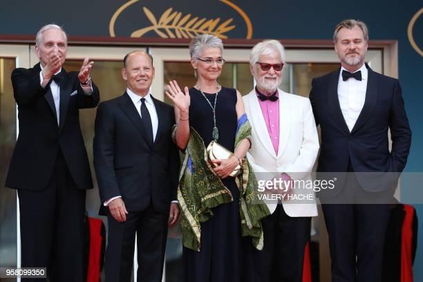 Actor Keir Dullea, a guest, Katharina Kubrick, daughter of British director Stanley Kubrick, German-US producer Jan Harlan and British director...