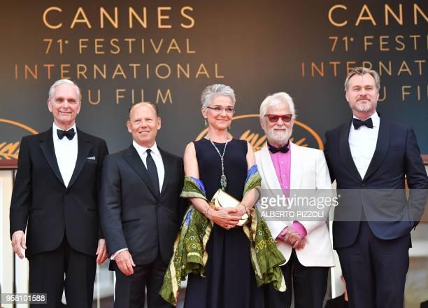 Actor Keir Dullea, guest, Katharina Kubrick, daughter of British director Stanley Kubrick, German-US producer Jan Harlan and British director...