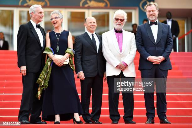 Actor Keir Dullea, Katharina Kubrick, daughter of British director Stanley Kubrick, guest, German-US producer Jan Harlan and British director...