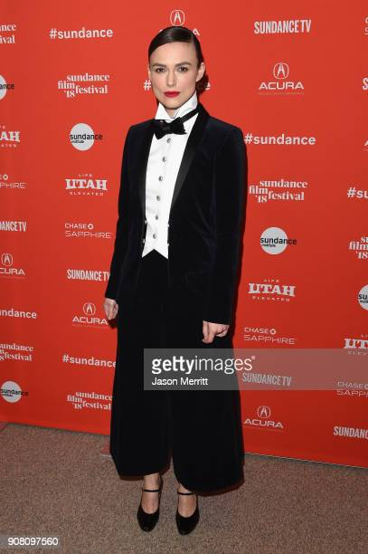 Actor Keira Knightley attends the Colette Premiere during the 2018 Sundance Film Festival at Eccles Center Theatre on January 20 2018 in Park City...