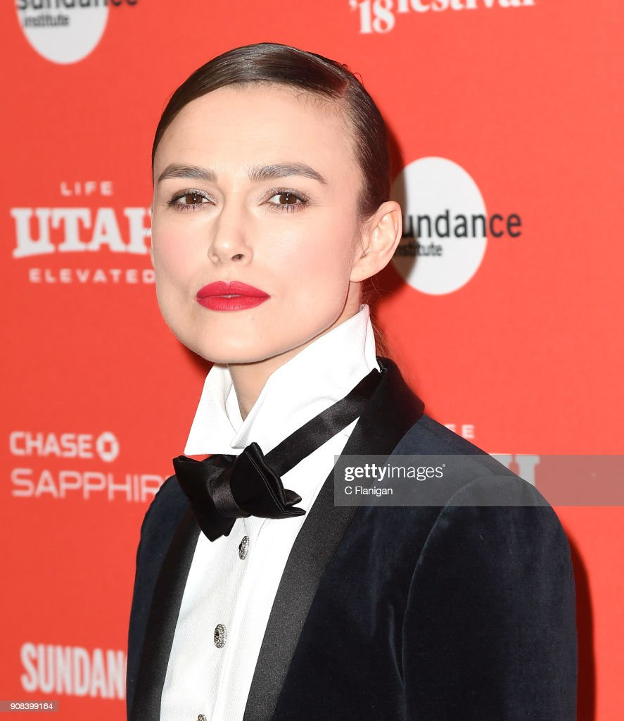Actor Keira Knightley attends the 'Colette' Premiere during the 2018 Sundance Film Festival at Eccles Center Theatre on January 20, 2018 in Park City, Utah.