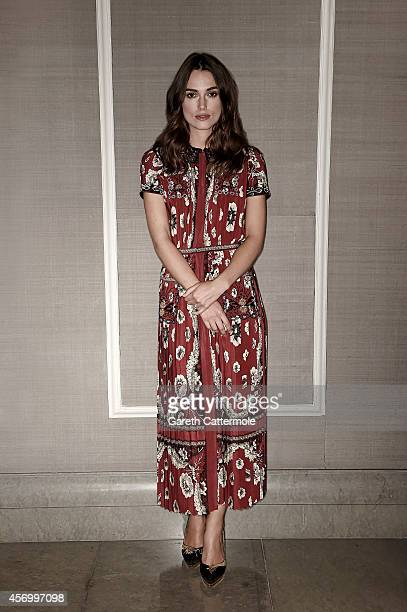 Actor Keira Knightley poses in the portrait studio at the BFI London Film Festival 2014 on October 8 2014 in London England