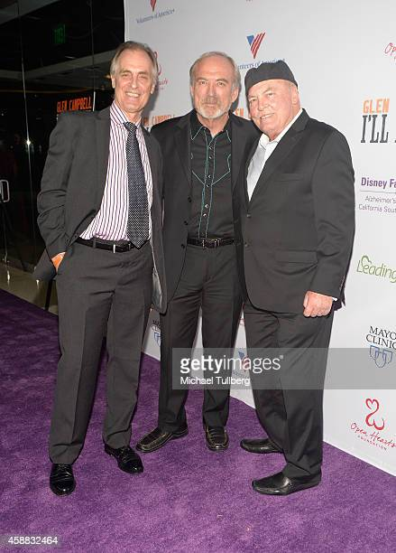 Actor Keith Carradine director James Keach and actor Stacy Keach attend the premiere of the film Glen CampbellI'll Be Me at Pacific Design Center on...