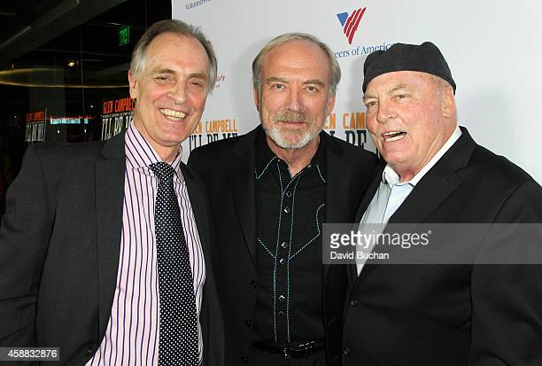 Actor Keith Carradine Director James Keach and Stacy Keach attend the Premiere of Glen Campbell I'll Be Me at Pacific Design Center on November 11...