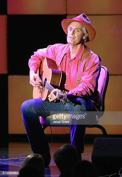 Actor Keith Carradine performs onstage during the 24th and final A Night at Sardi's to benefit the Alzheimer's Association at The Beverly Hilton...