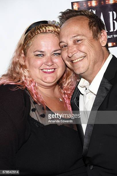 Actor Keith Coogan and Kristen Pinky Shean arrive at the opening of Cabaret at the Hollywood Pantages Theatre on July 20 2016 in Hollywood California