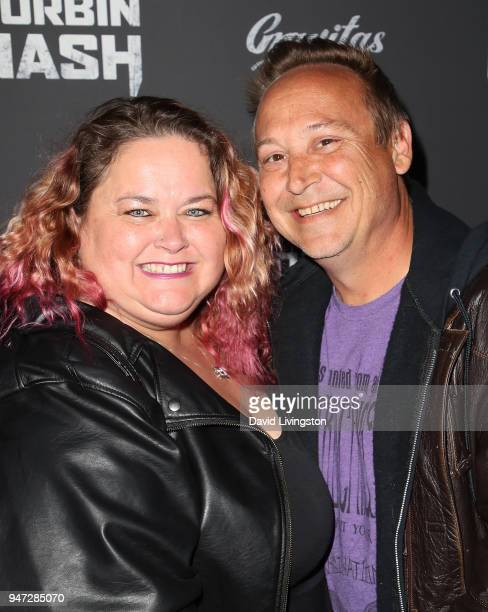 Actor Keith Coogan and wife Kristen Shean attend the Corbin Nash premiere screening at The Montalban on April 16 2018 in Hollywood California