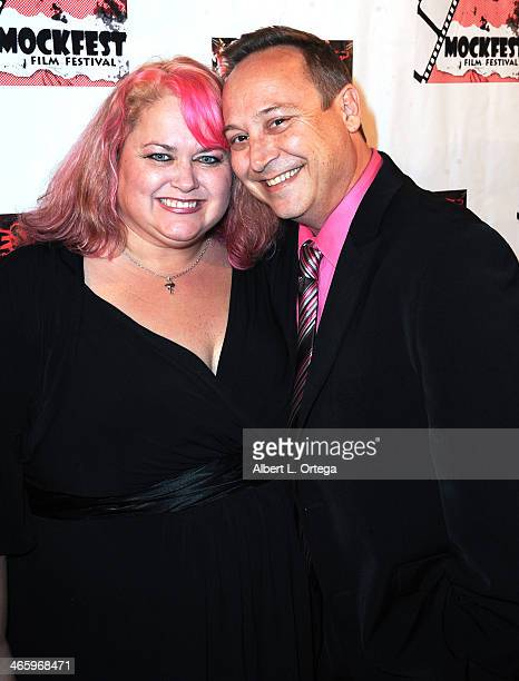 Actor Keith Coogan and wife Pinky attend the ShockFest Film Festival Awards held at Raleigh Studios on January 11 2014 in Los Angeles California