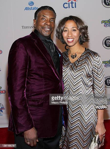 Actor Keith David and Dionne Lea Williams arrive at the 30th annual NFL Alumni Player of the Year Award at the Scottish Rite Theater on February 3...