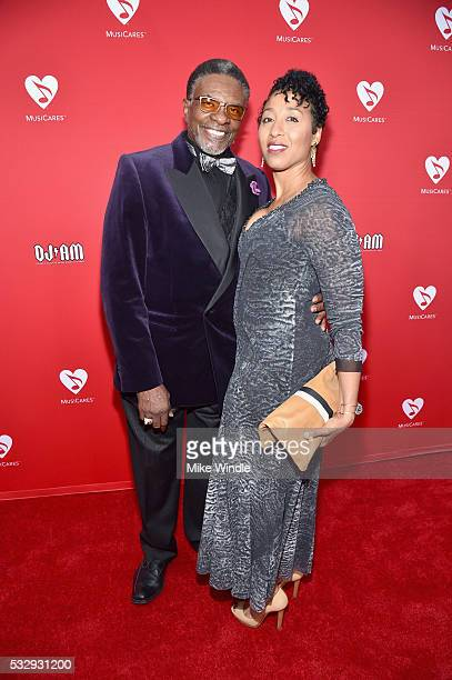 Actor Keith David and Dionne Lea Williams attend the 12th Annual MusiCares MAP Fund Benefit Concert Honoring Smokey Robinson at The Novo by Microsoft...