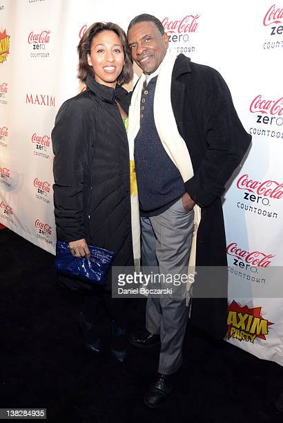 Actor Keith David and Dionne Lea Williams attend The Maxim Party featuring The Coke Zero Countdown presented by Patron Tequila at Indiana State...