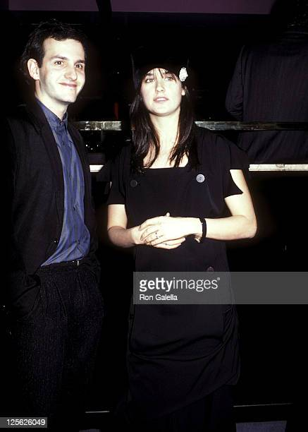 Actor Keith Gordon and actress Demi Moore attend The Early Girl Opening Night Party on October 30 1986 at Club Monaco 41 East 58th Street in New York...