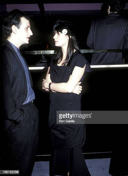 Actor Keith Gordon and actress Demi Moore attend 'The Early Girl' Opening Night Party on October 30 1986 at Club Monaco 41 East 58th Street in New...