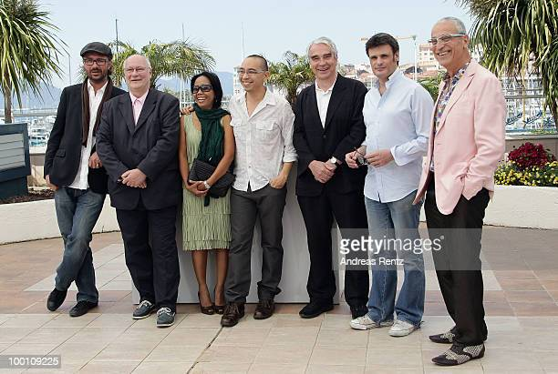 Actor Keith GriffithWallapa Mongkolprasert director Apichatpong Weerasethakul actors Keith GriiffthCharles De MeauxLuis Minarro attend the 'Uncle...