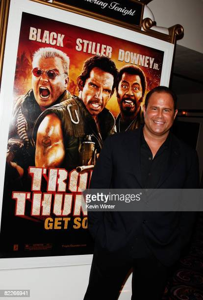 """Actor Keith Middlebrook arrives on the red carpet of the Los Angeles Premiere of """"Tropic Thunder"""" at the Mann's Village Theater on August 11, 2008 in..."""