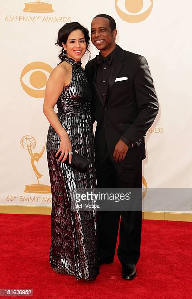 Actor Keith Powell and Jill Knox arrive at the 65th Annual Primetime Emmy Awards held at Nokia Theatre LA Live on September 22 2013 in Los Angeles...