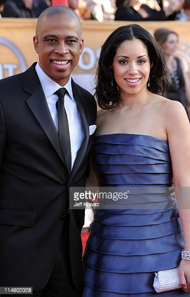 Actor Keith Powell and Jill Knox arrive to the 16th Annual Screen Actors Guild Awards held at The Shrine Auditorium on January 23 2010 in Los Angeles...