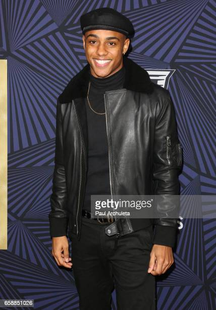 Actor Keith Powers attends the BET's 2017 American Black Film Festival Honors Awards at The Beverly Hilton Hotel on February 17 2017 in Beverly Hills...
