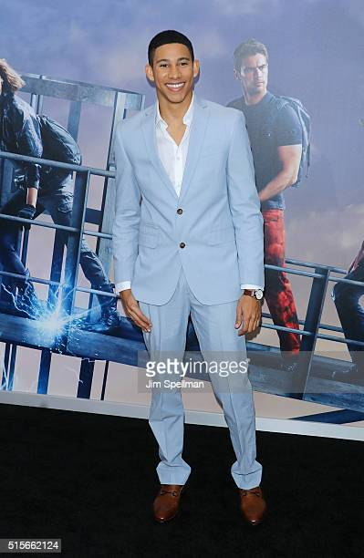 Actor Keiynan Lonsdale attends the Allegiant New York premiere at AMC Loews Lincoln Square 13 theater on March 14 2016 in New York City
