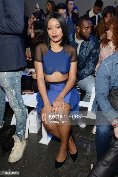 Actor Keke Palmer attends the Chromat AW18 front row during New York Fashion Week at Industria Studios on February 9 2018 in New York City