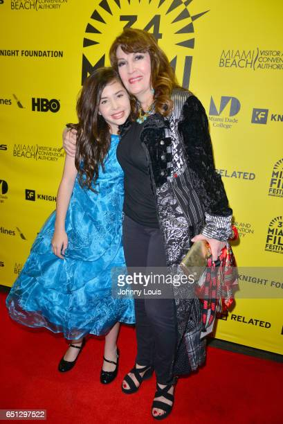 Actor Kelea Skelton and Mary Apick attend the Miami Dade College's Miami Film Festival for 'Monday Nights At Seven' at O Cinema Miami Beach on March...
