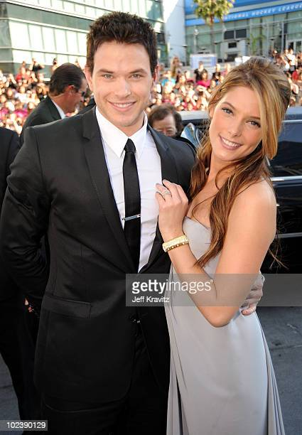 "Actor Kellan Lutz and actress Ashley Greene arrive at the premiere of Summit Entertainment's ""The Twilight Saga: Eclipse"" during the 2010 Los Angeles..."