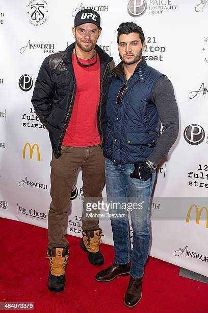 Actor Kellan Lutz and Paige Hospitality Group director Brian Mazza attend Paige Hospitality Group's Third Annual Sundance Football Game Watch on...