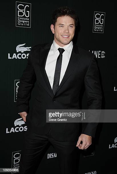 Actor Kellan Lutz arrives at the 13th Annual Costume Designers Guild Awards with presenting sponsor Lacoste held at The Beverly Hilton hotel on...