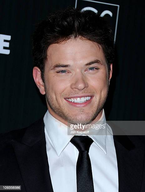 Actor Kellan Lutz arrives at the 13th Annual Costume Designers Guild Awards at The Beverly Hilton hotel on February 22 2011 in Beverly Hills...