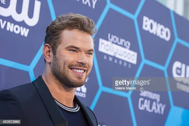 Actor Kellan Lutz arrives at the 16th Annual Young Hollywood Awards at The Wiltern on July 27 2014 in Los Angeles California