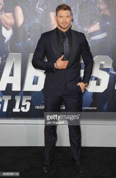 Actor Kellan Lutz arrives at the Los Angeles Premiere 'The Expendables 3' at TCL Chinese Theatre on August 11 2014 in Hollywood California