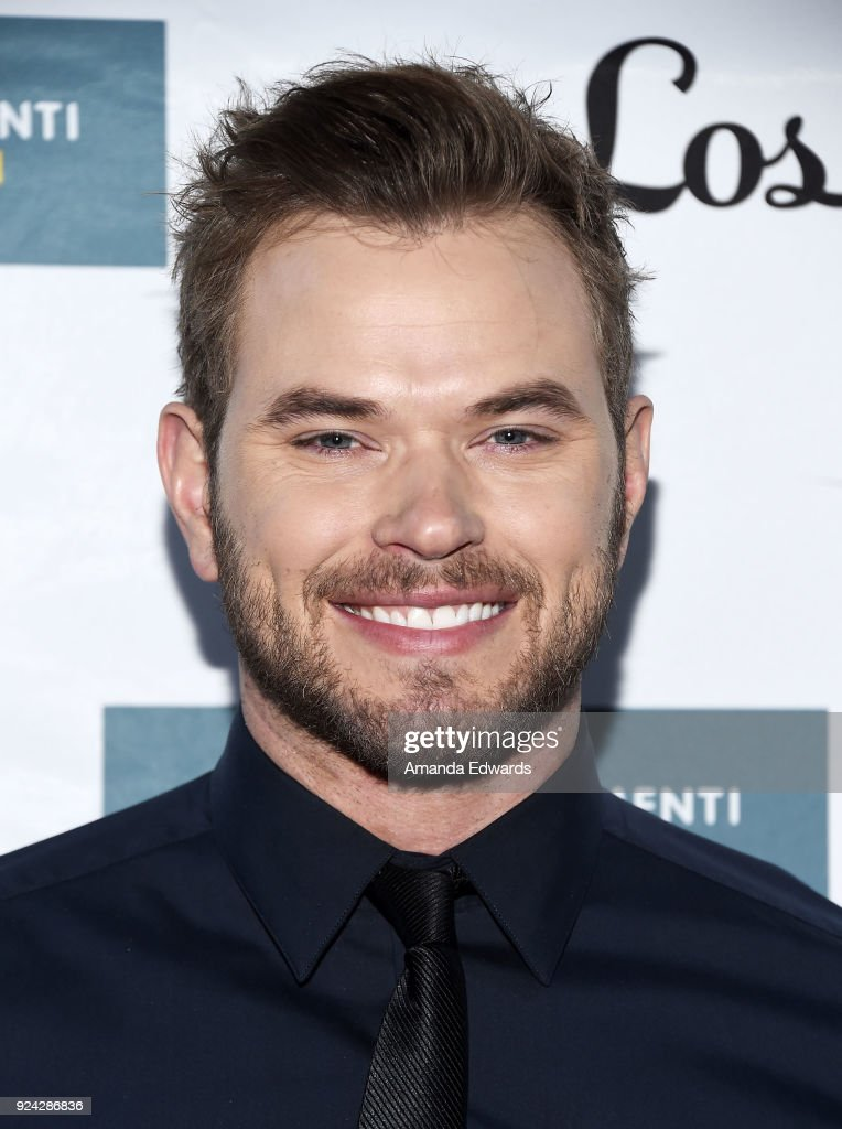 Actor Kellan Lutz arrives at the Mitchell Gold + Bob Williams Birthday Bash to benefit The Tyler Clementi Foundation at the Mitchell Gold + Bob Williams Signature Store on February 25, 2018 in Beverly Hills, California.
