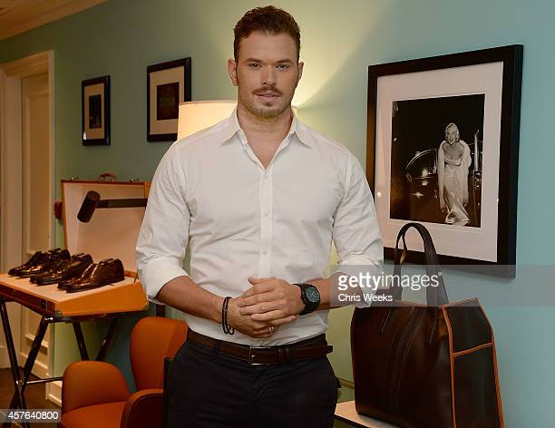 Actor Kellan Lutz attend a cocktail party hosted by Details at Tod's JP Club on October 21 2014 in Beverly Hills California