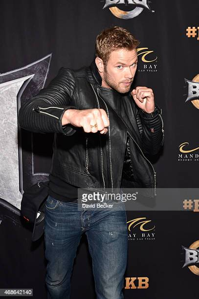 Actor Kellan Lutz attends BKB 2 Big Knockout Boxing at the Mandalay Bay Events Center on April 4 2015 in Las Vegas Nevada