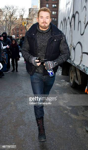 Actor Kellan Lutz attends Fall 2014 Mercedes Benz Fashion Week on February 7 2014 in New York City