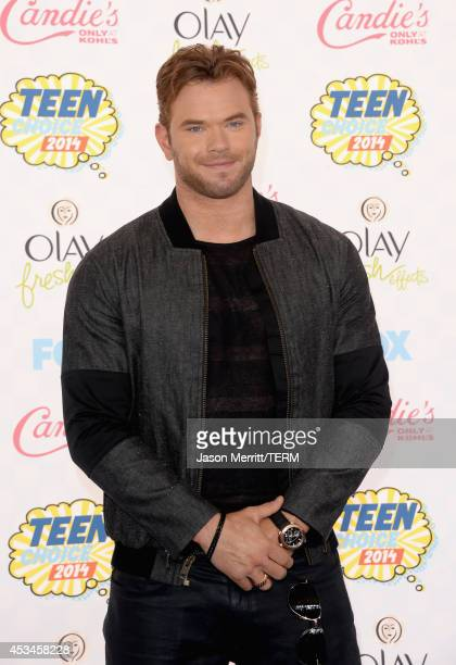 Actor Kellan Lutz attends FOX's 2014 Teen Choice Awards at The Shrine Auditorium on August 10 2014 in Los Angeles California