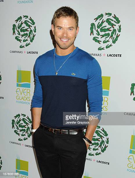 Actor Kellan Lutz attends LACOSTE Celebration of Limited Edition Campanas Tee During Art Basel Miami at Soho Beach House on December 6 2012 in Miami...