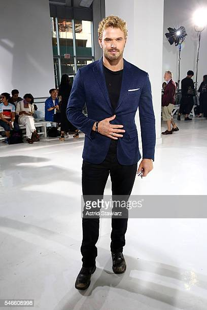 Actor Kellan Lutz attends N Hoolywood Front Row New York Fashion Week Men's S/S 2017 at Hudson Mercantile on July 12 2016 in New York City