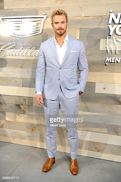 Actor Kellan Lutz attends the CFDA x Cadillac opening night party during New York Fashion Week Men's Spring/Summer 2017 at Cadillac House on July 11...