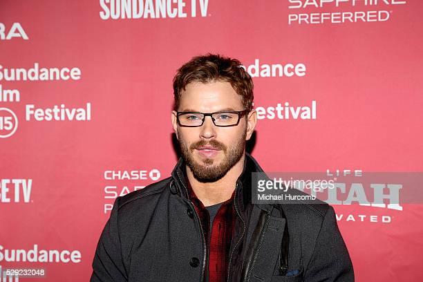 "Actor Kellan Lutz attends the ""Experimenter"" premiere at the 2015 Sundance Film Festival"