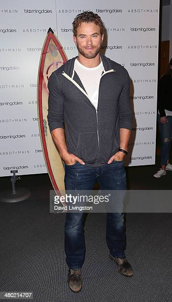 Actor Kellan Lutz attends the launch of the Abbot + Main Spring Collection at Bloomingdale's at The Beverly Center on March 23, 2014 in Los Angeles,...