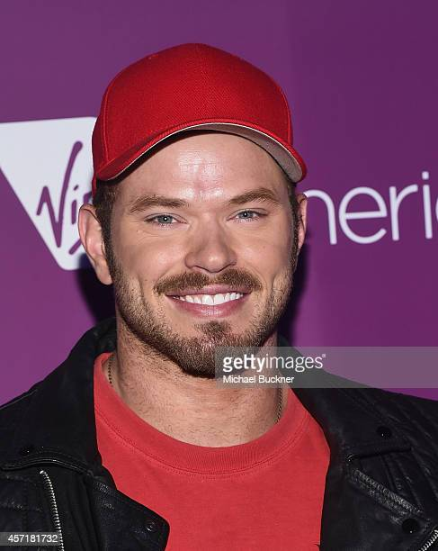 Actor Kellan Lutz attends the Virgin America Dallas Love Field Launch Celebration at the House of Blues on October 13 2014 in Dallas Texas