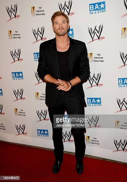 Actor Kellan Lutz attends the WWE SummerSlam VIP Kick-Off Party at Beverly Hills Hotel on August 16, 2012 in Beverly Hills, California.