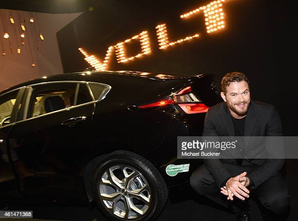 Actor Kellan Lutz attends West Coast Reveal Of The New 2016 Next Generation Chevrolet Volt at Quixote Studios on January 12 2015 in Los Angeles...