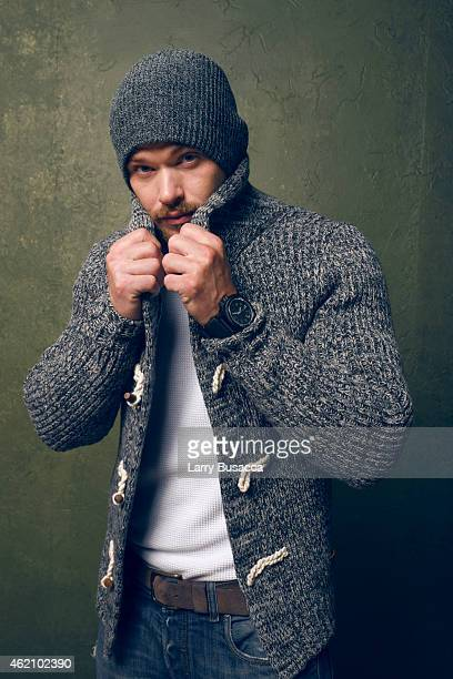 Actor Kellan Lutz from 'Experimenter' poses for a portrait at the Village at the Lift Presented by McDonald's McCafe during the 2015 Sundance Film...