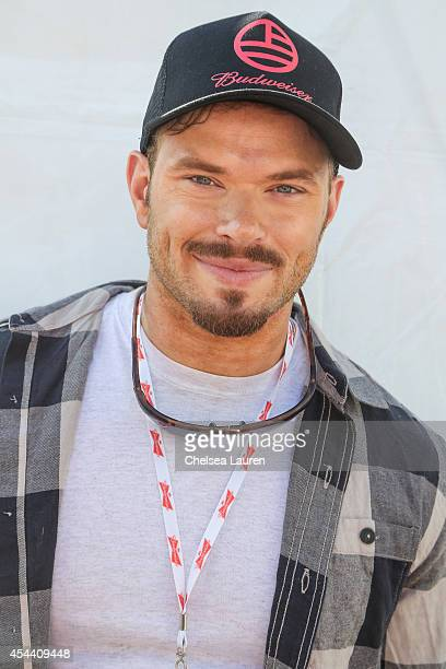 Actor Kellan Lutz is seen backstage during Day 1 of the Budweiser Made in America festival at Los Angeles Grand Park on August 30, 2014 in Los...